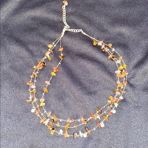 Jewelry - Layered Brown Stone Necklace